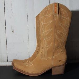 Rocket Dog Cowboy Boots Tan sz 9